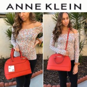 NEW Anne Klein Classic Revival Large Dome Satchel